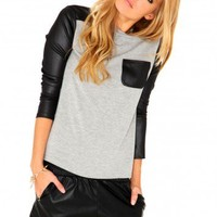 Missguided - Henah Leather Detail Top
