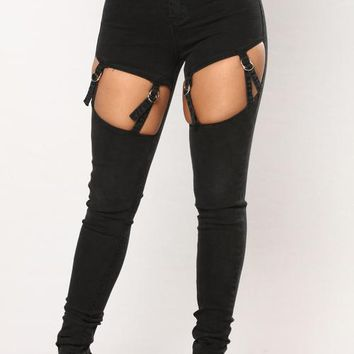 That's What's Up Skinny Jeans - Black