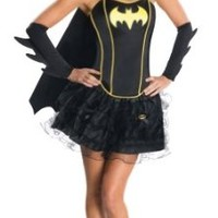 Secret Wishes DC Comics Batgirl Corset And Tutu Costume, Black, Medium