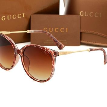 Gucci sunglass AA Classic Aviator Sunglasses, Polarized, 100% UV protection 2974244976 GG1719
