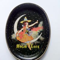 Vintage Miller High Life Metal Tray Limited Edition 1989
