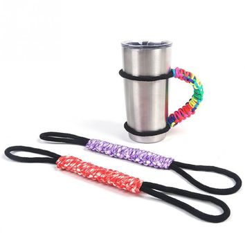 Paracord Handmade Handle For 30oz Tumbler Rambler Cup Holder Sports Bike Cycling Accessories