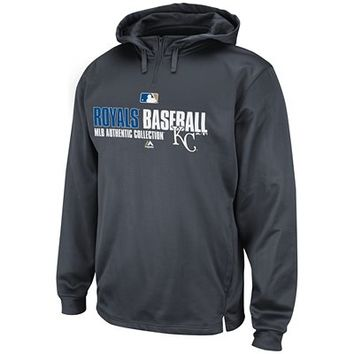 Men's Authentic Collection Team Favorite Therma Base™ Performance Hooded Fleece - Kansas City Royals | Majestic Athletic Official Store