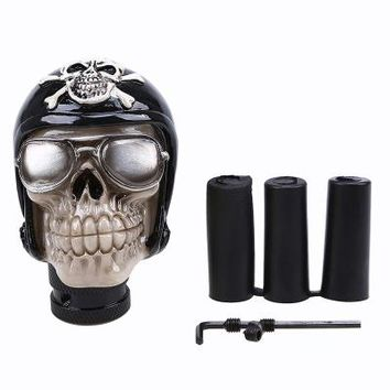 Car Accessories Shifter Resin Wicked Carved Skull Transmission Universal Type Gear Stick Knob Car Manual Gear Shift Knob - Style 1