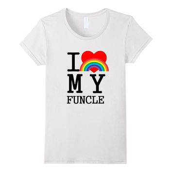 I Love My Funcle Gay Funny Uncle Shirt for Niece Nephew Gift