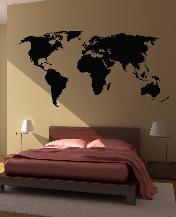World Map Wall Decal Sticker World From Happy Wallz Wall