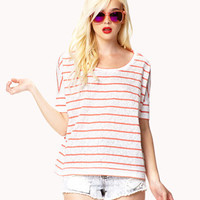 Casual-Chic Striped Lace Top | FOREVER 21 - 2053261311