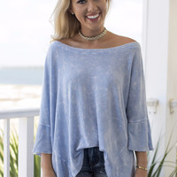 Ultimate Guidance Blue Mineral Wash Top