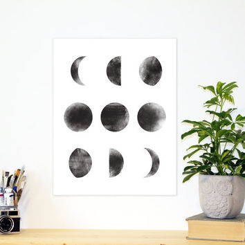 Moon Phase Art Print