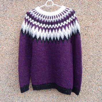 RESERVED FOR LISA, custom order. Icelandic sweater, handmade, icelandic jumper, Icelandic lopapeysa, wool, warm,