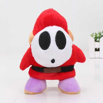 16cm Super Mario Plush Shy Guy anime plush Toys stuffed pendant hook toy doll keychain keyring