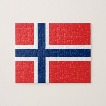 Puzzle with Flag of Norway