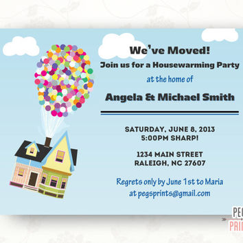 Housewarming Invitation Printable, Housewarming Party Invitation, New Home Announcement
