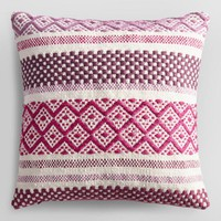 Orchid Diamond Dobby Woven Indoor Outdoor Throw Pillow