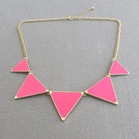 Princess Triangle Necklace