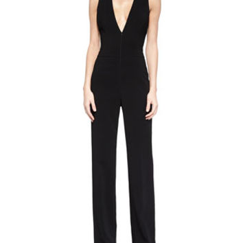 A.L.C. Luree V-Neck Wide-Leg Jumpsuit