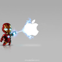 Ironman...damn apple! it's too hard to destroy!!!! Art Print by Emiliano Morciano (Ateyo) | Society6