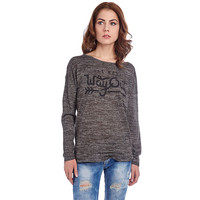 GREEN SWEATER WITH WAY OUT LOGO