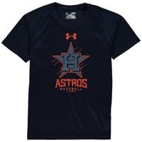 Youth Houston Astros Under Armour Navy Performance Tech T-Shirt