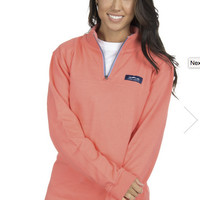 Coral Half Zip Whitacre Pullover
