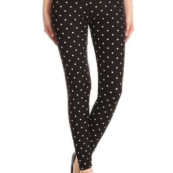 Pretty in Polka Dots Print Leggings
