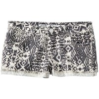 Mossimo Supply Co. Juniors Printed Cut Off Denim Shorts - Black Geo