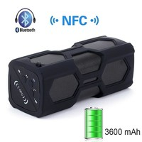 LEMFO Bluetooth 4.0 Music Player Subwoofer Sound Box NFC Portable Wireless Handsfree Speaker Power Bank with 3600mAh Battery