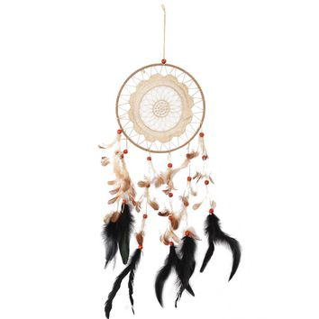 Vintage Enchanted Forest Mini Dreamcatcher Handmade Dream Catcher Net With Feather Decoration Home Ornament Dromenvanger