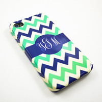 Personalized phone 4 Case, Monogram iphone case, Custom iphone 4s Case, iphone 4 Cover, Hard iphone 4 Case - Monogrammed iphone 4 case