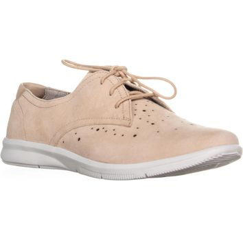 Rockport Ayva Lace Up Oxford Sneakers, Blush, 8 US / 39 EU