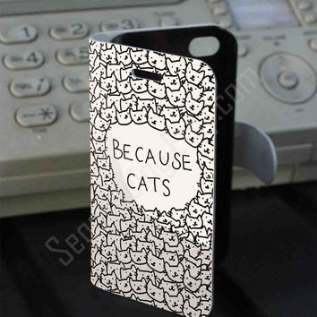 Because Cats Leather Folio Case for iPhone and Samsung Galaxy