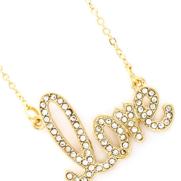 All You Need is Love Necklace - Silver or Gold