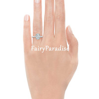 2 Carat ( 7 mm * 9 mm) Oval Cut Solitaire Engagement Ring / Promise Ring, Man Made Diamond Simulant, 925 Sterling Silver, with gift box