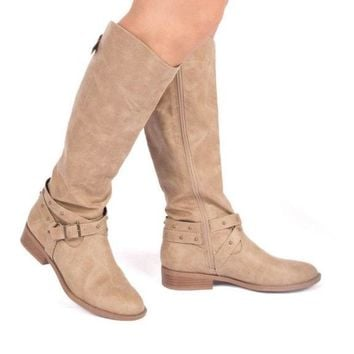 Thinking About You Western Boots In Taupe