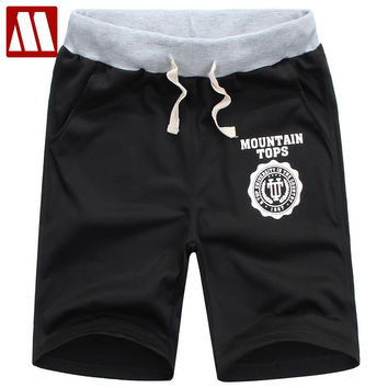 Men's casual beach shorts with sewing pattern New Arrival Fashion Summer Shorts Male cotton short Pants