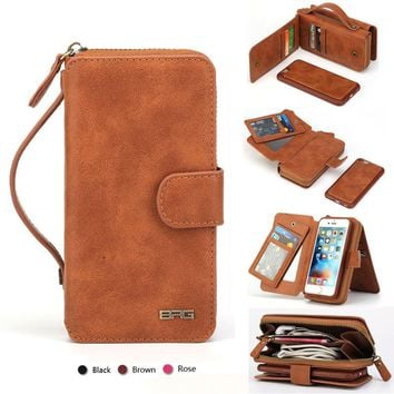 Multifunction Wallet Leather Case For Samsung Galaxy Note 8 S8 Plus S4 S5 S6 S7 Edge Note 4 5 Zipper Purse Pouch Phone Cases