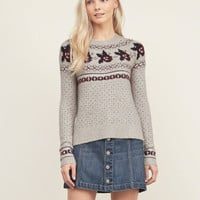 Patterned Crew Sweater