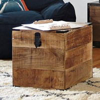 Light Wood Square Trunk