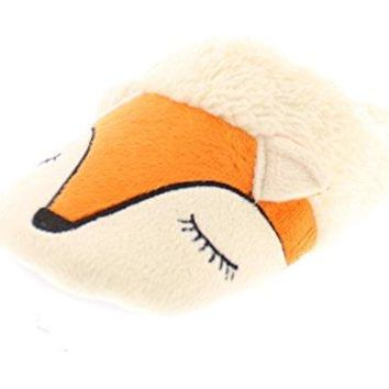 Gold Toe Womens Sleepy Fox Novelty Furry Animal Soft Plush Fur Lined Slip On House Slipper