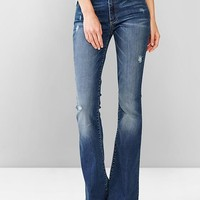 Destructed Skinny Flare Jeans