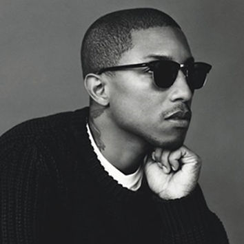 Celebrity Pharrell Williams Half Frame Horned Rim Sunglasses 2947