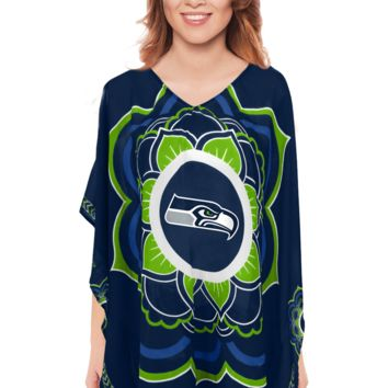Limited Edition, Officially Licensed Seattle Seahawks Caftan One Size / Navy