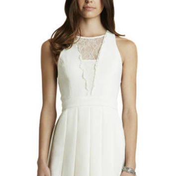 Deep V Dress in White - BCBGeneration