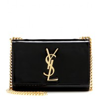 saint laurent - classic monogramme patent-leather shoulder bag