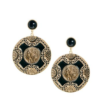 ASOS Cameo Doorknocker Earrings