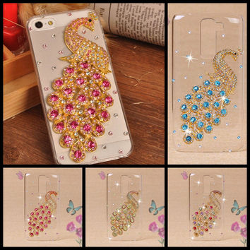 For LG K7 Case,Luxury Handmade Crystal Diamond 3D Bling Hard Plastic Cover Case For LG K7 K 7 Cell Phone Cases Fundas Shell Capa