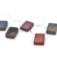 Ombre pallet wine charms wood wine charms reclaimed wood housewares wine party wine gift