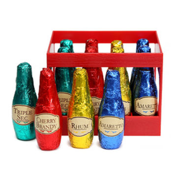 Abtey Chocolate Original Liquor Bottles: 12-Piece Crate