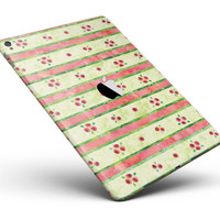 """Shabby Chic Watercolor Holly Patttern Full Body Skin for the iPad Pro (12.9"""" or 9.7"""" available)"""