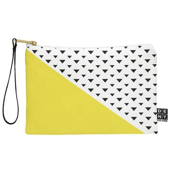 Allyson Johnson Chartreuse n triangles Pouch